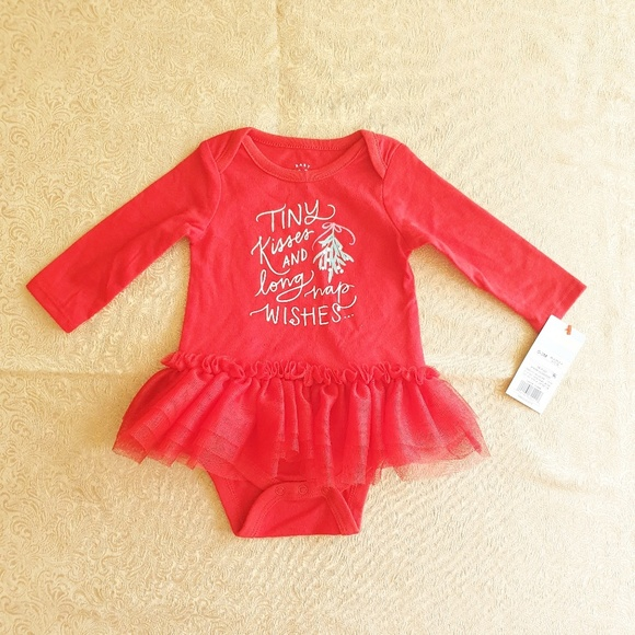 "Cat & Jack Other - Nwt Baby Cat & Jack ""Tiny Kisses"" tutu bodysuit"